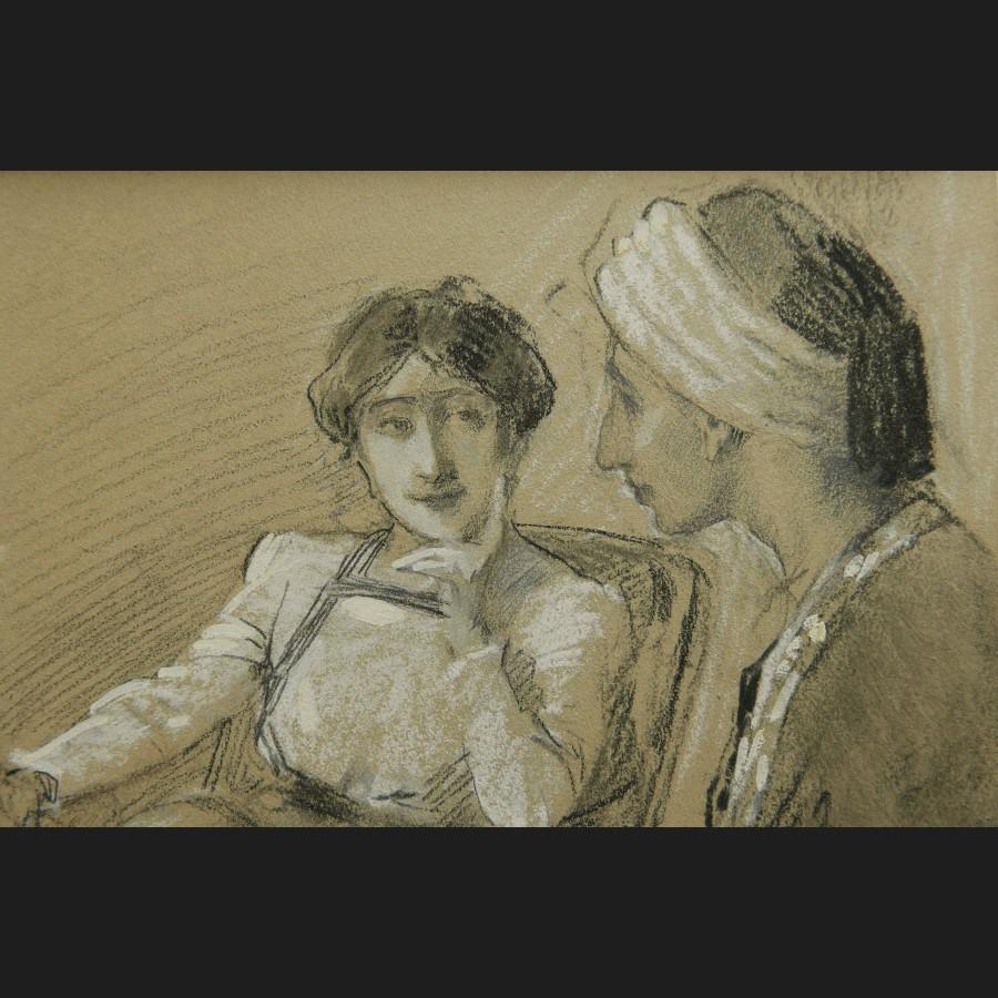 Antoine calbet couple oriental dessin galerie cerca - Dessin oriental a imprimer ...