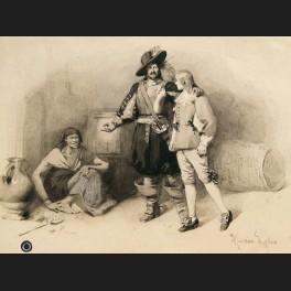 http://www.cerca-trova.fr/11708-thickbox_default/maurice-leloir-mousquetaires-et-servante-dessin.jpg