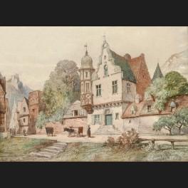 http://www.cerca-trova.fr/12460-thickbox_default/guillaume-van-der-hecht-paysanne-avec-ses-vaches-traversant-un-village-en-montagne-aquarelle.jpg