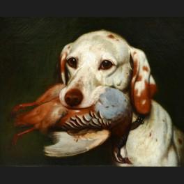 http://www.cerca-trova.fr/12557-thickbox_default/leon-viardot-chien-de-chasse-tenant-dans-sa-gueule-une-perdrix-tableau.jpg
