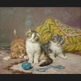 http://www.cerca-trova.fr/12588-thickbox_default/daniel-merlin-trois-chatons-jouant-avec-une-pelote-de-laine-bleue-tableau.jpg