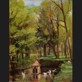 http://www.cerca-trova.fr/14711-thickbox_default/f-perrotte-cygnes-sur-une-piece-d-eau-dans-un-parc-tableau.jpg