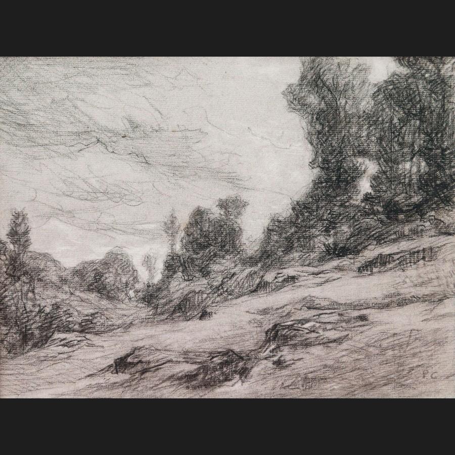 École FRANÇAISE du XIXème siècle, Paysage de campagne ...