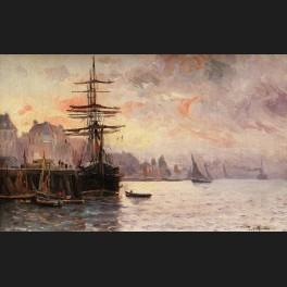 http://www.cerca-trova.fr/15995-thickbox_default/paul-morchain-vue-du-port-de-douarnenez-au-crepuscule-tableau.jpg