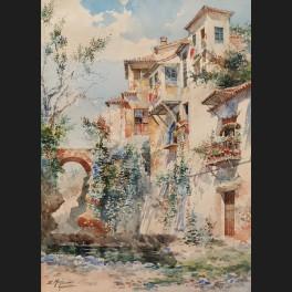 http://www.cerca-trova.fr/17005-thickbox_default/enrique-marin-sevilla-maisons-et-pont-sur-la-riviere-a-grenade-aquarelle.jpg