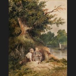 http://www.cerca-trova.fr/18243-thickbox_default/ecole-francaise-romantique-deux-enfants-au-bord-d-une-riviere.jpg