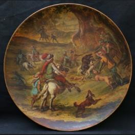 http://www.cerca-trova.fr/18276-thickbox_default/plat-en-terre-cuite-peinte-a-decor-d-une-chasse-a-l-ours-epoque-fin-xixeme-siecle.jpg