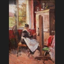http://www.cerca-trova.fr/19014-thickbox_default/gustave-halbart-femme-peignant-dans-l-atelier-tableau.jpg