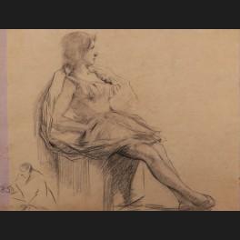 http://www.cerca-trova.fr/19169-thickbox_default/ecole-francaise-fin-xixeme-entourage-de-jean-louis-forain-danseuse-assise-dessin.jpg