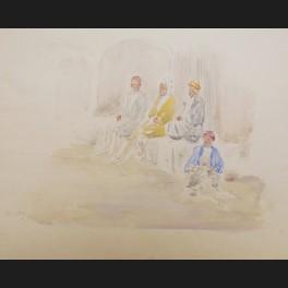 http://www.cerca-trova.fr/19749-thickbox_default/ecole-francaise-ou-anglaise-du-xxeme-siecle-egyptiens-assis-sur-un-banc-dessin.jpg