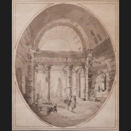 http://www.cerca-trova.fr/20001-thickbox_default/ecole-francaise-du-xviiieme-siecle-entourage-d-hubert-robert-chien-et-personnages-dans-un-monument-antique-dessin.jpg