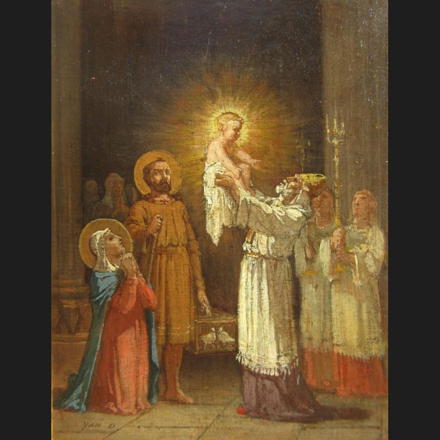 Jean Edouard DARGENT dit Yan D'ARGENT, Presentation de Jesus au Temple dans images sacrée jean-edouard-dargent-dit-yan-d-argent-presentation-de-jesus-au-temple-tableau-