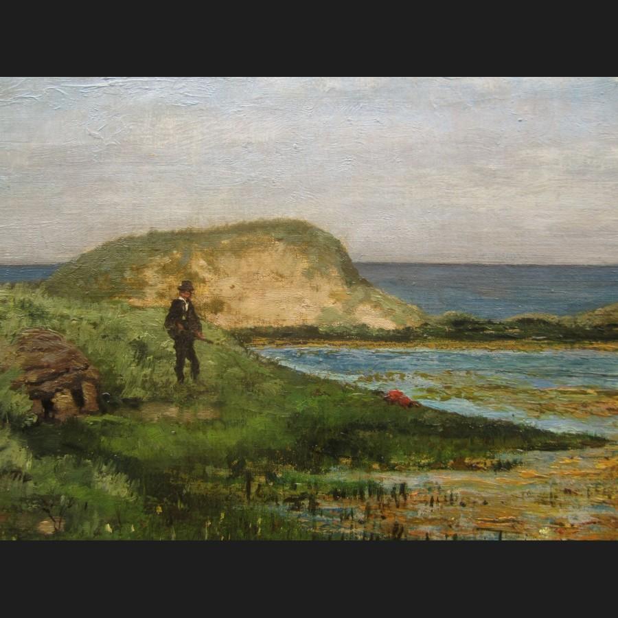 Lovely Chasseur D Image Cote #1: Jules-denneulin-chasseur-a-la-hutte-tableau.jpg