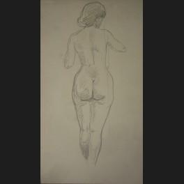Femme Nue De Dos marc alloueteau, femme nue de dos, dessin - galerie cerca trova