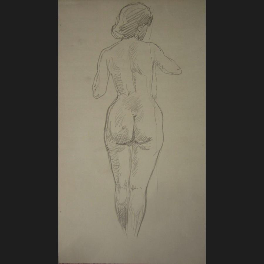 Marc Alloueteau Femme Nue De Dos Dessin Galerie Cerca Trova