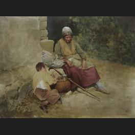 http://www.cerca-trova.fr/5673-thickbox_default/e-landry-vieille-femme-et-enfant-dans-la-campagne-plaque-de-porcelaine-peinte.jpg