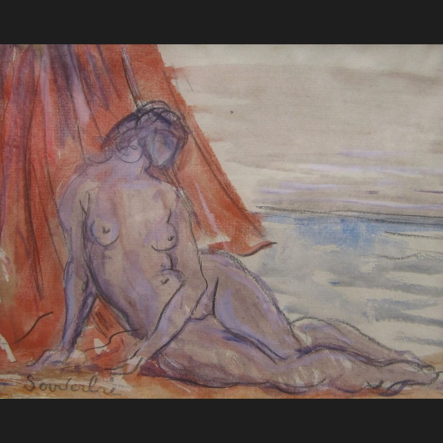 jean souverbie femme sur la plage dessin galerie cerca trova