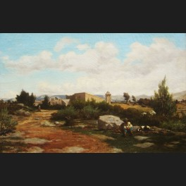 http://www.cerca-trova.fr/6866-thickbox_default/emile-charles-joseph-loubon-paysage-provencal-anime-tableau.jpg