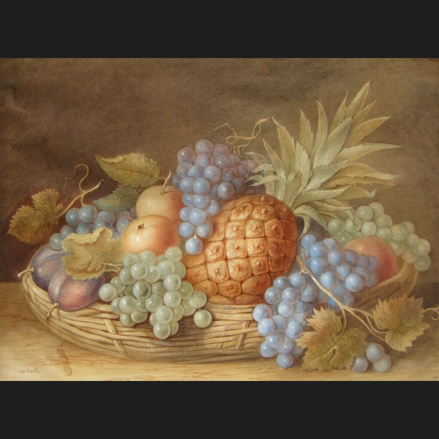 Suiveur de william henry hunt nature morte au panier - Nature morte a imprimer ...