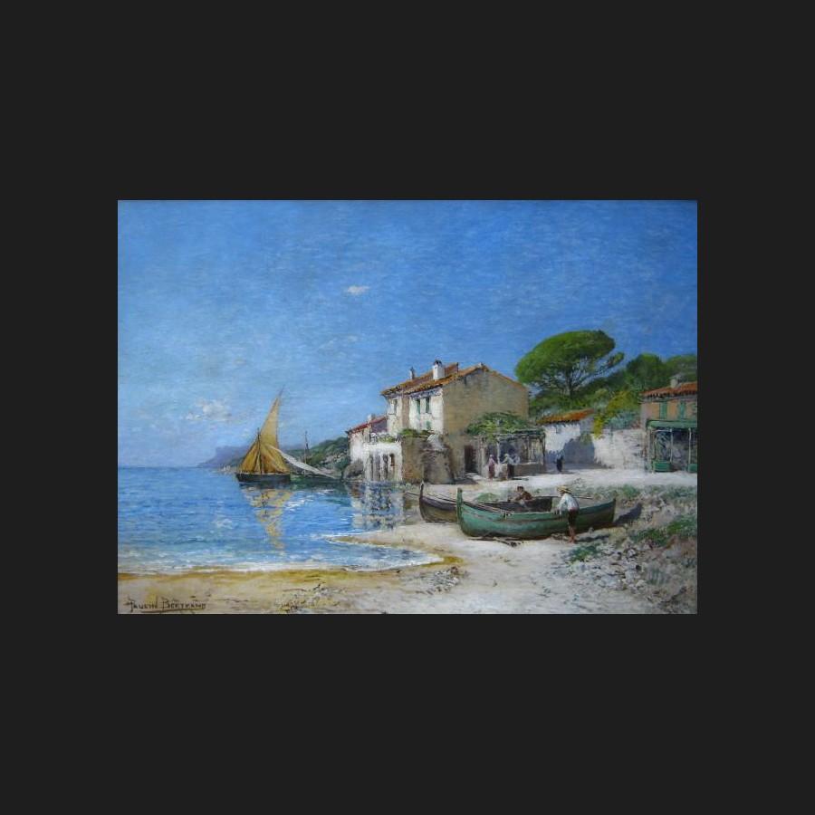 Super Andre PAULIN-BERTRAND, Paysage aux Lecques en Provence, tableau  KM85