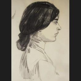 Théophile Alexandre Steinlen Femme De Profil Dessin Galerie